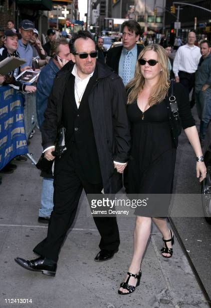 Elvis Costello and Diana Krall during Teri Hatcher Mike Myers America Ferrera and Elvis Costello Stop by 'The Late Show With David Letterman' at Ed...