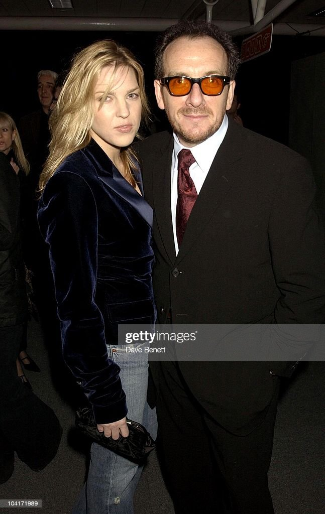 Elvis Costello And New Girlfriend, The Old Vic Theatre Benefit Party Held At The Old Vic Theatre London.