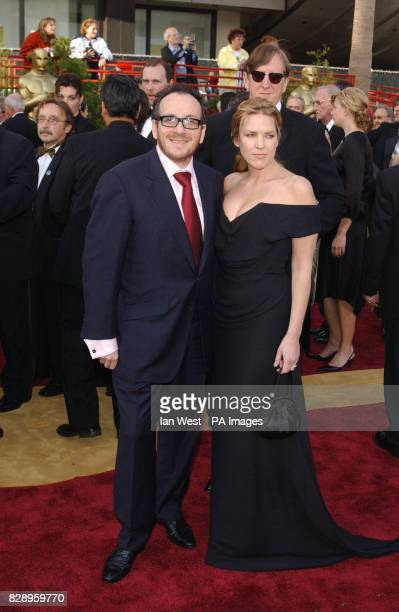 Elvis Costello and wife Diana Krall arrive at the Kodak Theatre in Los Angeles for the 76th Academy Awards