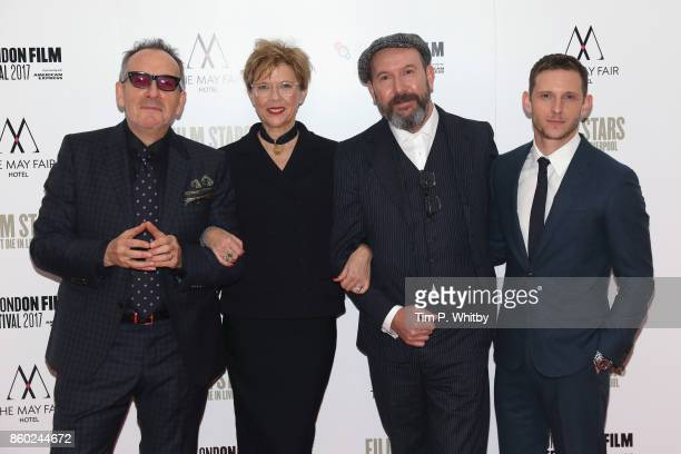 Elvis Costello Annette Bening director Paul McGuigan and Jamie Bell attend the Mayfair Gala European Premiere of 'Film Stars Don't Die in Liverpool'...