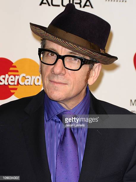 Elvis Costello attends the 2011 MusiCares Person of the Year at Los Angeles Convention Center on February 11 2011 in Los Angeles California