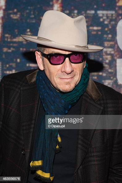 Elvis Costello attends the SNL 40th Anniversary Celebration at Rockefeller Plaza on February 15 2015 in New York City