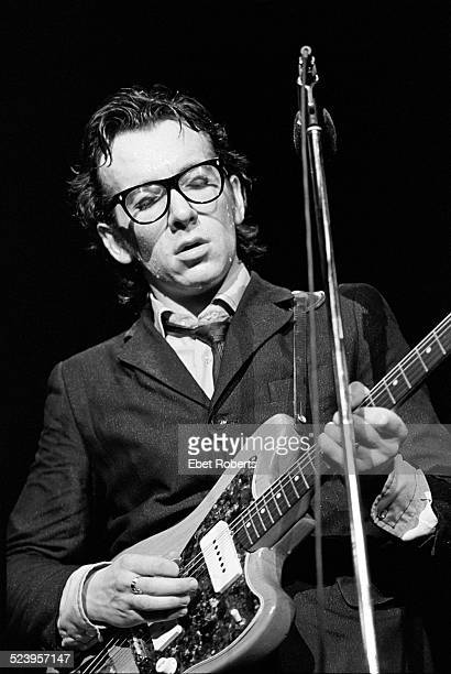 Elvis Costello performing at the Capitol Theater in Passaic New Jersey on May 5 1977