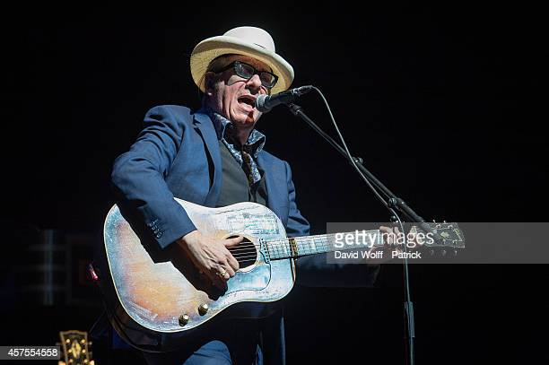 Elvis Costello performs at L'Olympia on October 20 2014 in Paris France