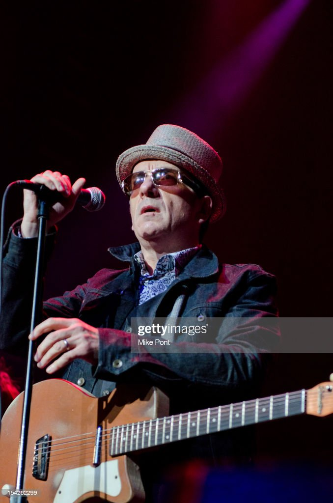 Elvis Costello Performs at The Little Kids Rock's 10th Anniversary Celebration at Manhattan Center Grand Ballroom on October 16, 2012 in New York City.