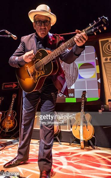 Elvis Costello performs at Victoria Hall on June 17 2015 in Hanley England