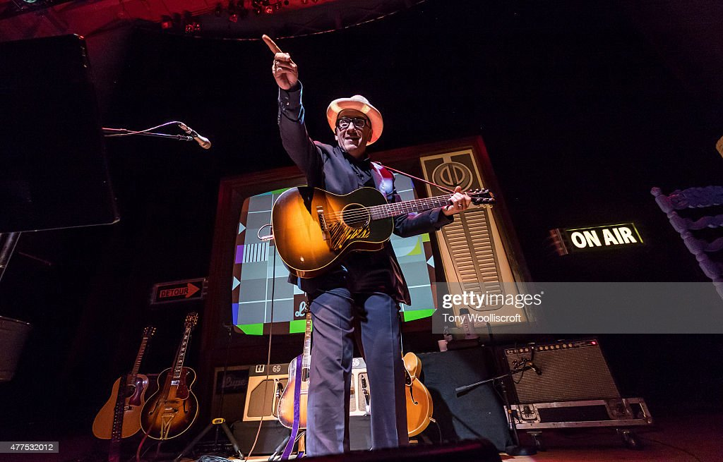Elvis Costello performs at Victoria Hall on June 17, 2015 in Hanley, England.