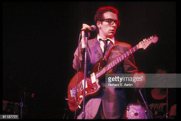 Elvis Costello performs live on stage with The Attractions at the Palladium in New York on May 06 1978