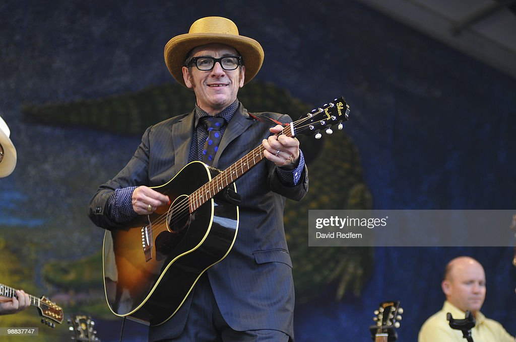 Elvis Costello performs on day four of New Orleans Jazz & Heritage Festival on April 29, 2010 in New Orleans, Louisiana.