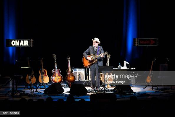 Elvis Costello performs on stage at Bridgewater Hall on July 14 2014 in Manchester United Kingdom