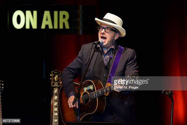 Elvis Costello performs on stage at Circus Krone on October 13 2014 in Munich Germany