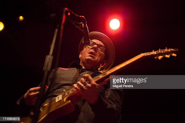 Elvis Costello performs on stage on July 27 2013 at Circo Price in Madrid Spain