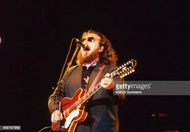 Elvis Costello performs on stage United Kingdom 1990
