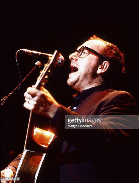 Elvis Costello performs on stage United Kingdom 1998