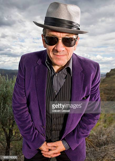 Elvis Costello poses for a portrait backstage at the Gorge Amphitheater on May 26 2013 in Quincy Washington