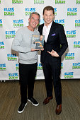 Elvis Duran and Chef Bobby Flay at 'The Elvis Duran Z100 Morning Show' at Z100 Studio on October 27 2015 in New York City