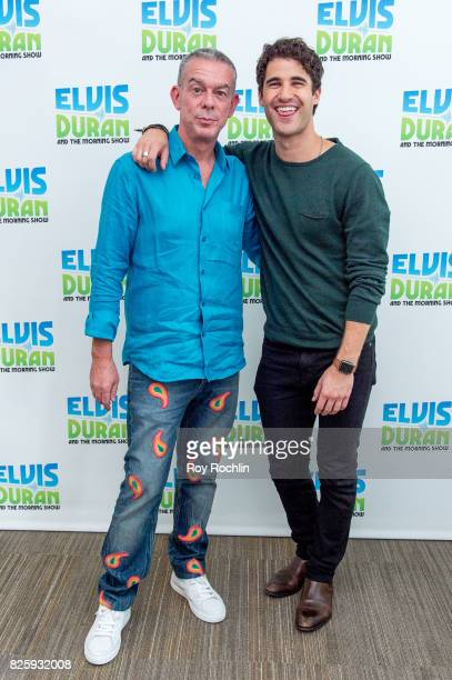 Elvis Duran and Darren Criss as Darren Criss visits 'The Elvis Duran Z100 Morning Show' at Z100 Studio on August 2 2017 in New York City