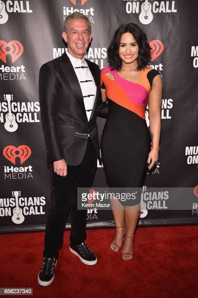 Elvis Duran and Demi Lovato attend A Night To Celebrate Elvis Duran presented by Musicians On Call at The Edison Ballroom on March 21 2017 in New...