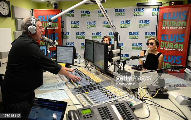 Elvis Duran and Lady Gaga at the 'Elvis Duran and the Z100 Morning Show' at Z100 Studio on August 19 2013 in New York City