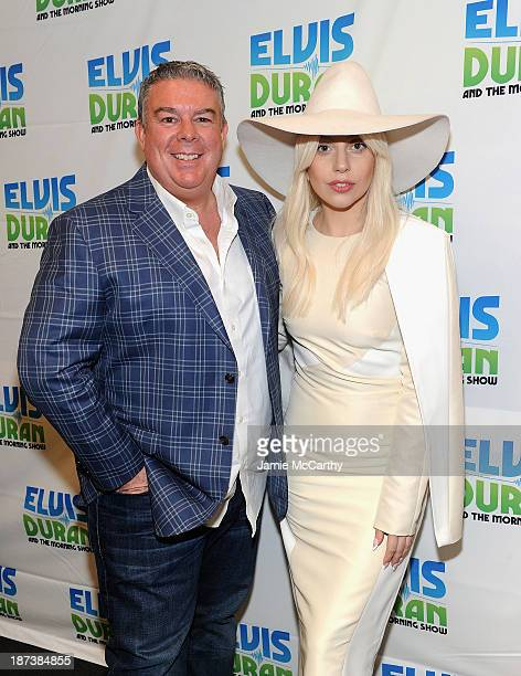 Elvis Duran and Lady Gaga visit the Elvis Duran Z100 Morning Show at Z100 Studio on November 8 2013 in New York City