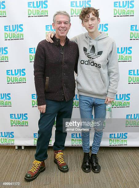 Elvis Duran and singer Troye Sivan pose for a photo during the Elvis Duran Z100 Morning Show featuring Troye Sivan at Z100 Studios on December 4 2015...