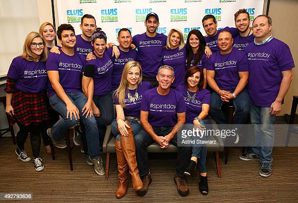 Elvis Duran and The Morning Show celebrate GLAAD's Spirit Day to take a stand against bullying and as a symbol of support for LGBT youth at Z100...