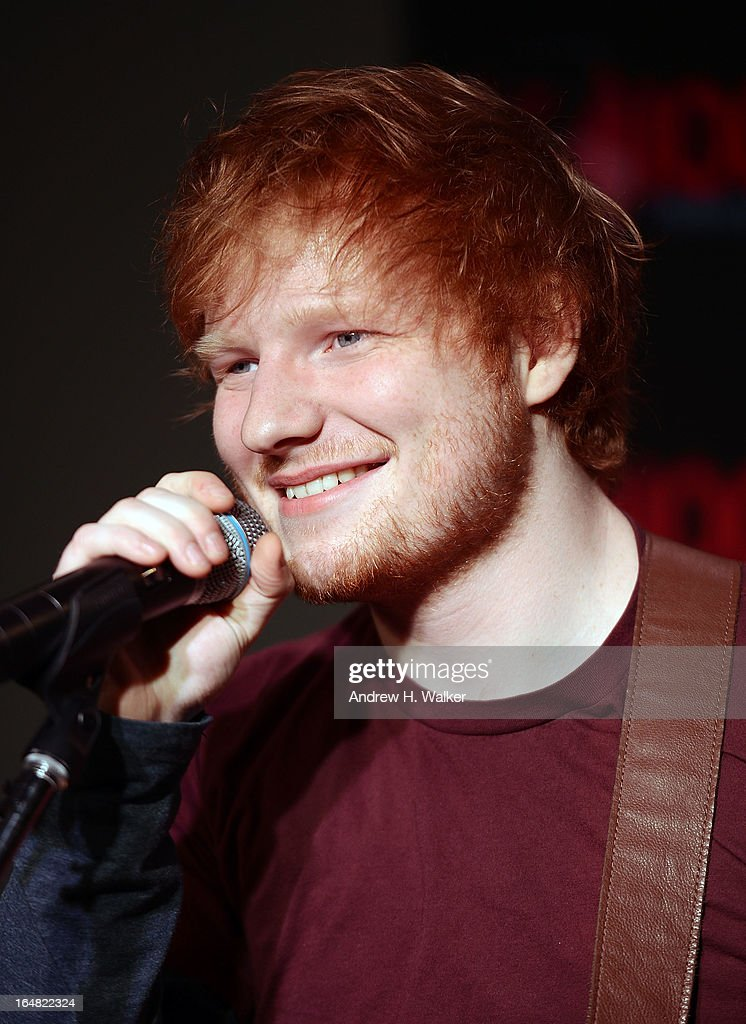 Elvis Duran hosts a Z100 performance by Ed Sheeran at the Z100 Studio on March 28, 2013 in New York City.