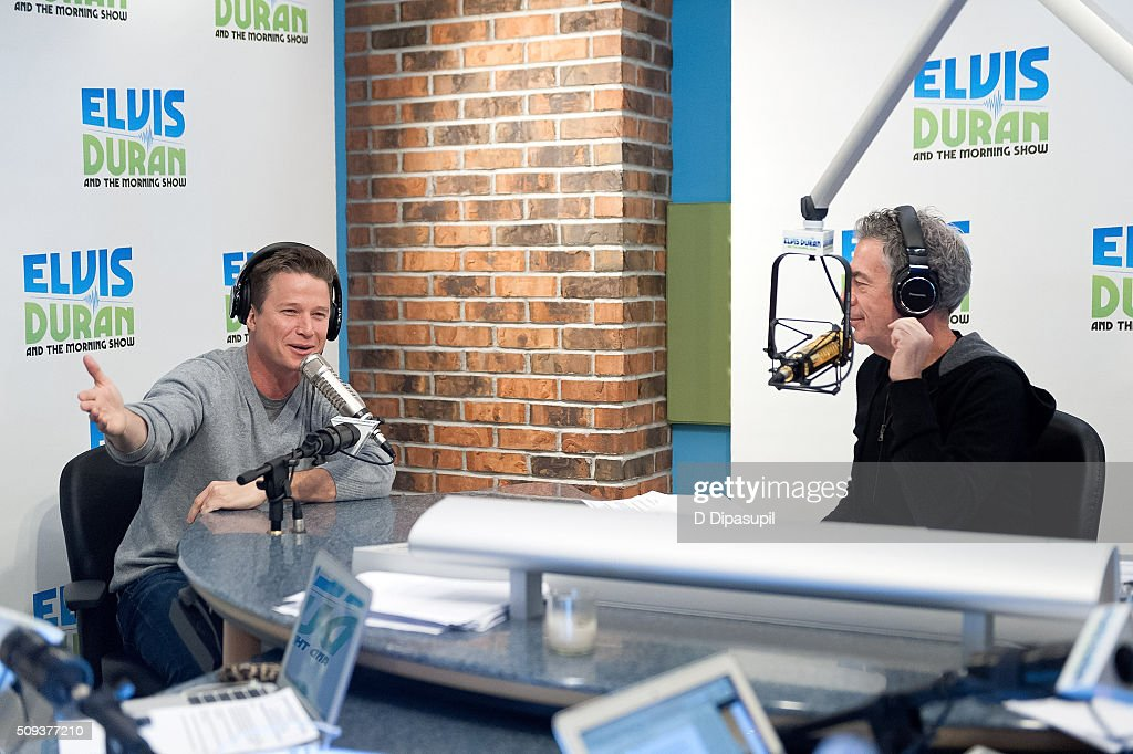 <a gi-track='captionPersonalityLinkClicked' href=/galleries/search?phrase=Elvis+Duran&family=editorial&specificpeople=3048281 ng-click='$event.stopPropagation()'>Elvis Duran</a> (R) interviews <a gi-track='captionPersonalityLinkClicked' href=/galleries/search?phrase=Billy+Bush&family=editorial&specificpeople=742677 ng-click='$event.stopPropagation()'>Billy Bush</a> during his visit to 'The <a gi-track='captionPersonalityLinkClicked' href=/galleries/search?phrase=Elvis+Duran&family=editorial&specificpeople=3048281 ng-click='$event.stopPropagation()'>Elvis Duran</a> Z100 Morning Show' at Z100 Studio on February 10, 2016 in New York City.