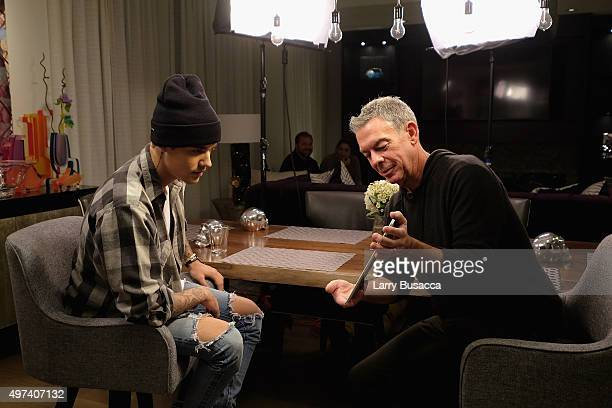Elvis Duran interviews Justin Bieber exclusively for 'Entertainment Tonight' on November 16 2015 in New York City