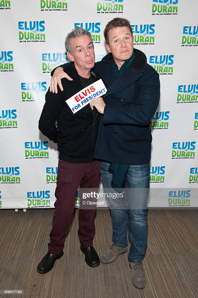 <a gi-track='captionPersonalityLinkClicked' href=/galleries/search?phrase=Elvis+Duran&family=editorial&specificpeople=3048281 ng-click='$event.stopPropagation()'>Elvis Duran</a> (L) poses with <a gi-track='captionPersonalityLinkClicked' href=/galleries/search?phrase=Billy+Bush&family=editorial&specificpeople=742677 ng-click='$event.stopPropagation()'>Billy Bush</a> during his visit to 'The <a gi-track='captionPersonalityLinkClicked' href=/galleries/search?phrase=Elvis+Duran&family=editorial&specificpeople=3048281 ng-click='$event.stopPropagation()'>Elvis Duran</a> Z100 Morning Show' at Z100 Studio on February 10, 2016 in New York City.