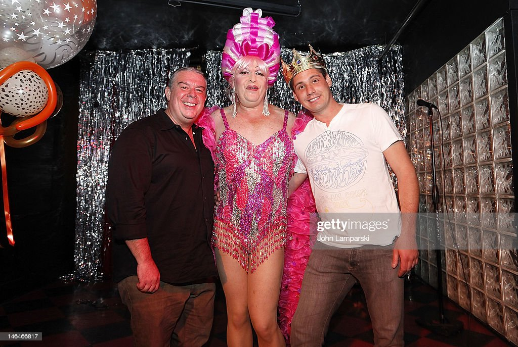 <a gi-track='captionPersonalityLinkClicked' href=/galleries/search?phrase=Elvis+Duran&family=editorial&specificpeople=3048281 ng-click='$event.stopPropagation()'>Elvis Duran</a>, Tiffany Wells and Alex Carr attend Alex Carr's birthday celebration at The Stonewall Inn on June 16, 2012 in New York City.
