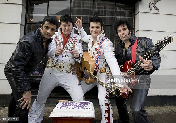 Elvis Impersonators Asian Elvis Sal Geordie Elvis Ian Coulson Elvis Shmelvis Martyn Dias And Sicilian Elvis Vince Citrano Celebrate Elvis Presley'S...