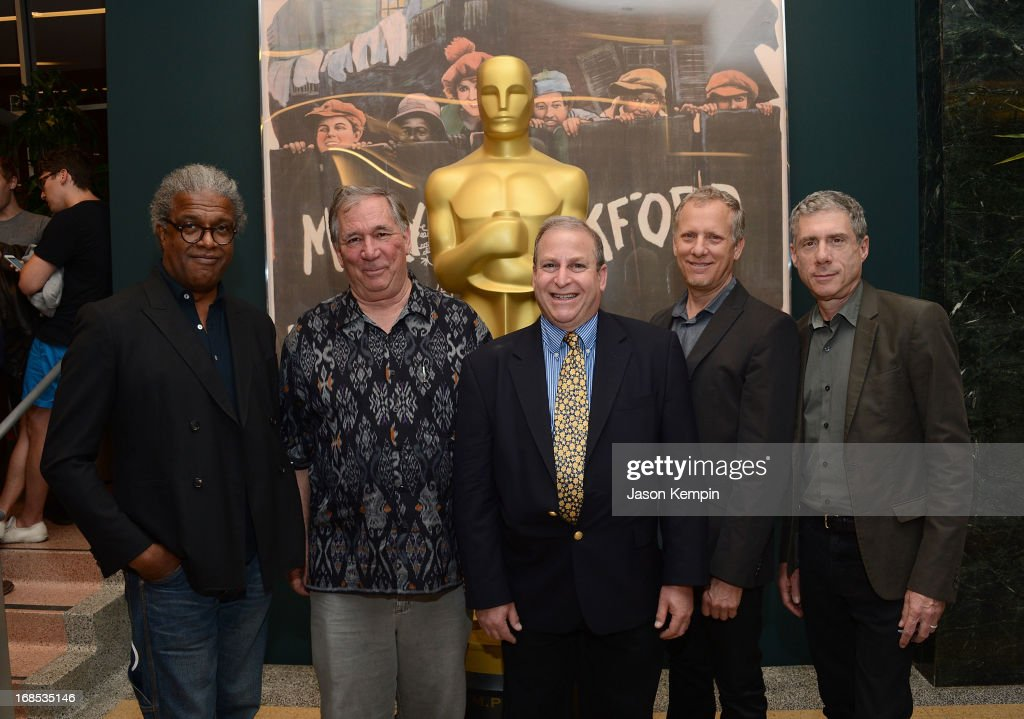 Elvis Mitchell, Robert Fiore, Dennis Doros, Rob Epstein and Jeffrey Friedman attend The Academy Of Motion Picture Arts And Sciences' Premiere Of 'Portrait Of Jason' at Linwood Dunn Theater at the Pickford Center for Motion Study on May 10, 2013 in Hollywood, California.