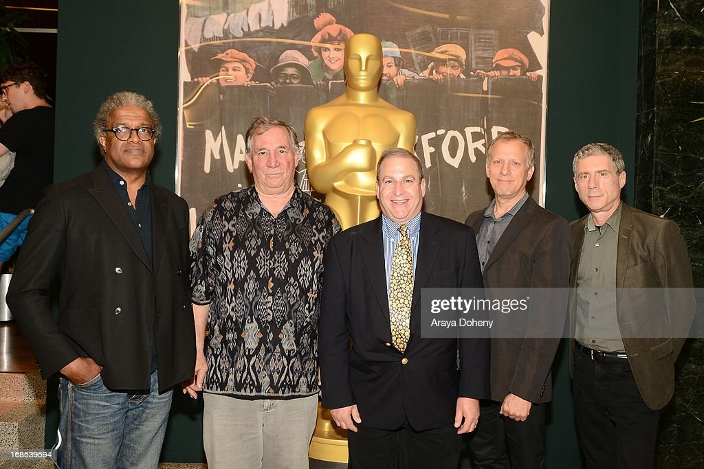 Elvis Mitchell, Robert Fiore, Dennis Doros, Rob Epstein and Jeffrey Friedman attend the AMPAS Hosts 'Portrait of Jason' Screening at Linwood Dunn Theater at the Pickford Center for Motion Study on May 10, 2013 in Hollywood, California.