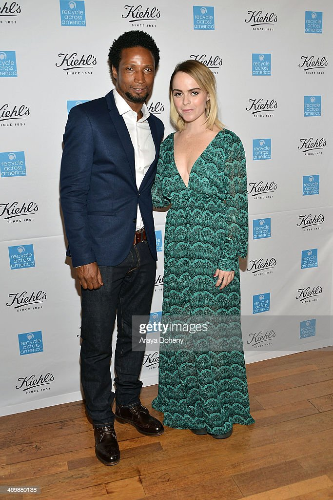 Elvis Nolasco and Taryn Manning attend the Kiehl's 2015 Earth Day Project with Benefitting Recycle Across America at Kiehls Since 1851 Santa Monica Store on April 15, 2015 in Santa Monica, California.