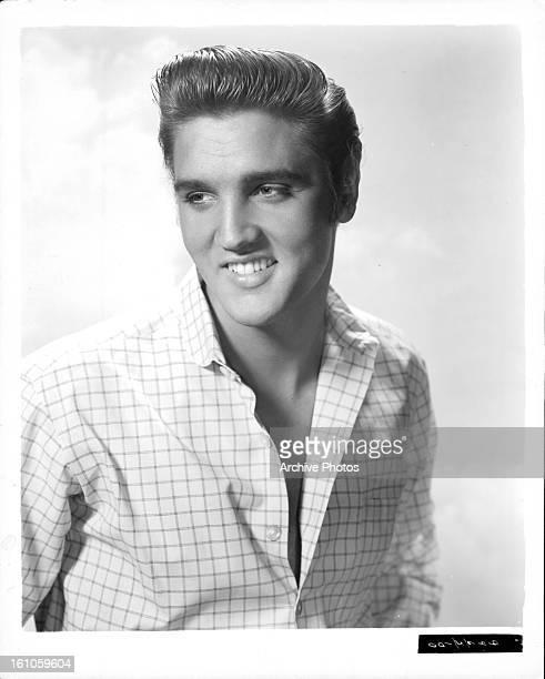 Elvis Presley in publicity portrait for the film 'Love Me Tender' 1956