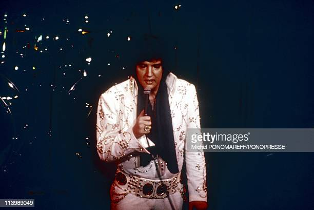 Elvis Presley on stage In Las Vegas United States In 1972