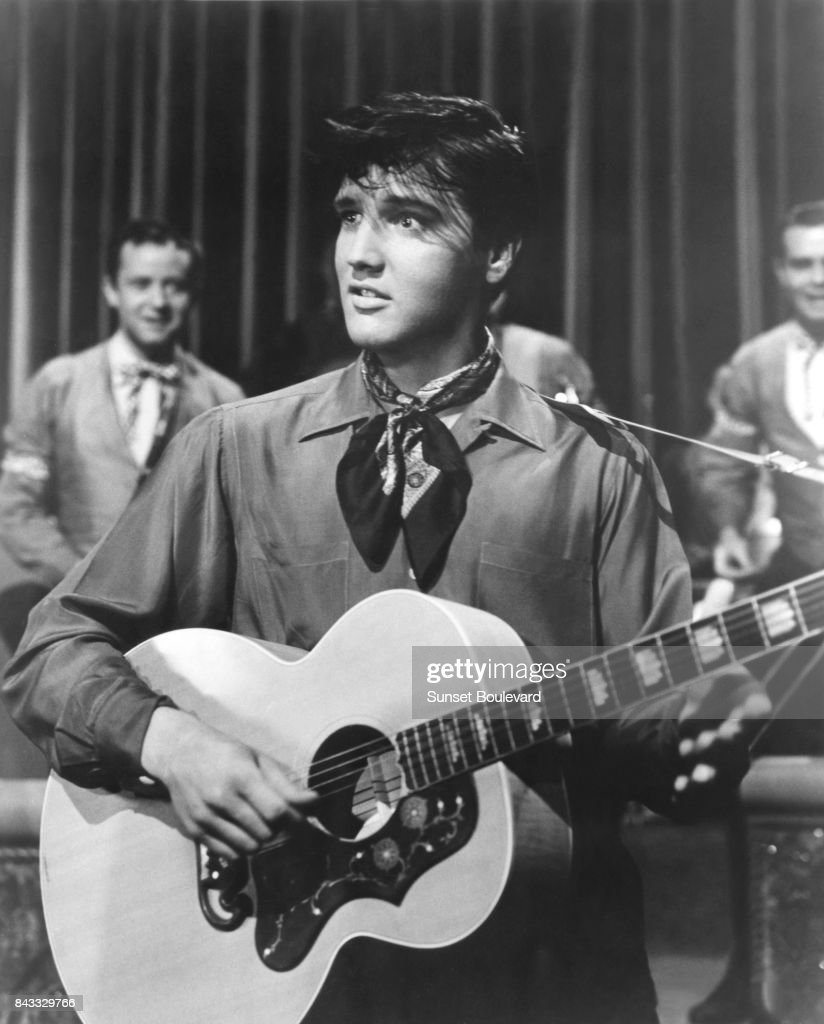 Elvis Presley on the set of 'King Creole' directed by Michael Curtis