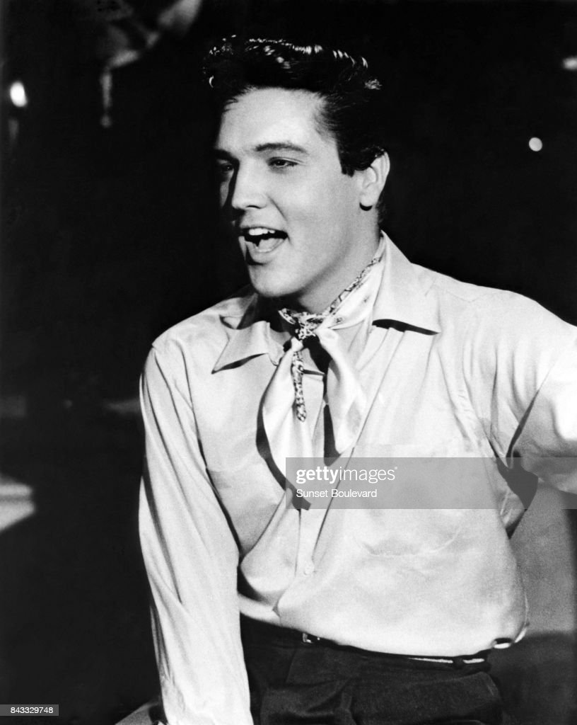 Elvis Presley on the set of 'King Creole' directed by Michael Curtiz