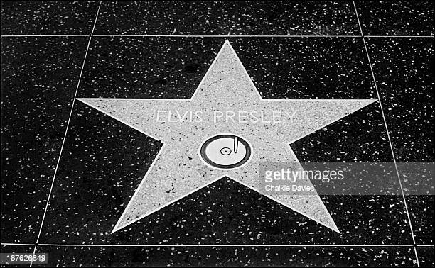 Elvis Presley's star on the Hollywood Walk of Fame Hollywood Boulevard Los Angeles California 1977