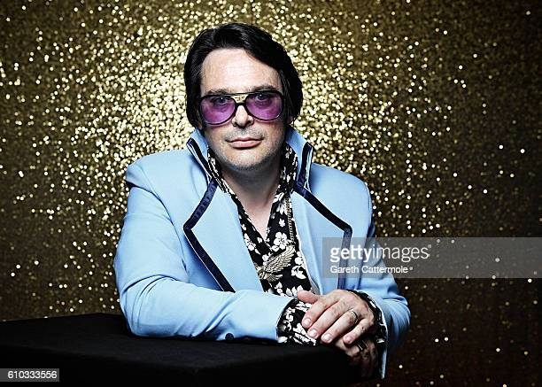 Elvis tribute artist Michael Aaron Chambers poses at the Grand Pavillion during a portrait session at 'The Elvies' on September 23 2016 in Porthcawl...