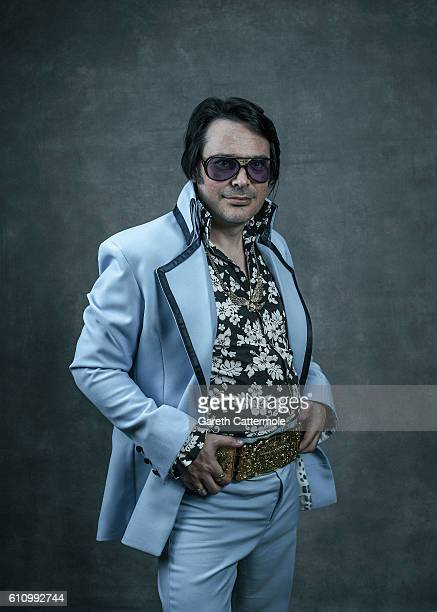 Elvis tribute artist Michael Aaron Chambers poses at the Grand Pavillion during a portrait session at 'The Elvies' on September 24 2016 in Porthcawl...