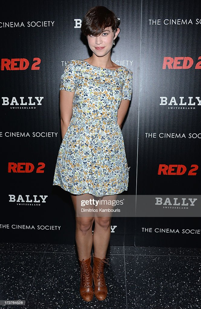 Elvy Yost attends The Cinema Society & Bally screening of Summit Entertainment's 'Red 2' at the Museum of Modern Art on July 16, 2013 in New York City.