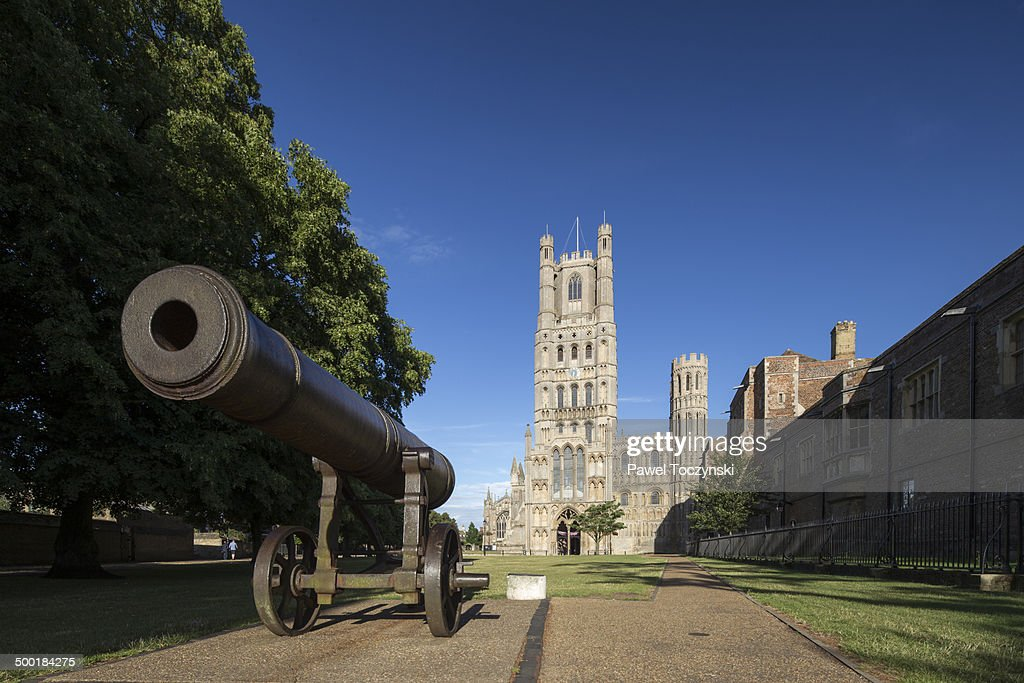 Ely cathedral along with Crimean War cannon