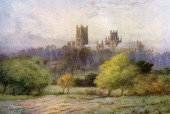 Ely Cathedral Cambridgeshire 19241926 The Cathedral Church of the Holy and Undivided Trinity of Ely is known locally as the ship of the Fens because...