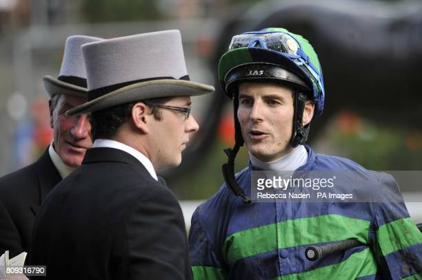 Elyaadi jockey Fran Berry after finishing second in the Queen Alexandra Stakes during Day Five of the 2011 Royal Ascot Meeting