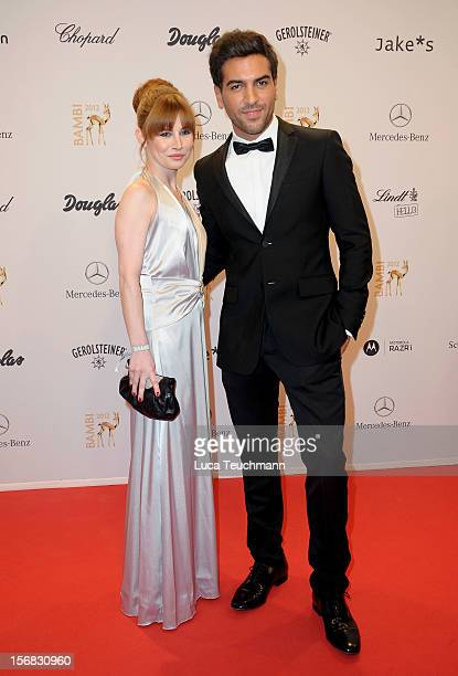 Elyas M'Barek and Josefine Preuss attend 'BAMBI Awards 2012' at the Stadthalle Duesseldorf on November 22 2012 in Duesseldorf Germany
