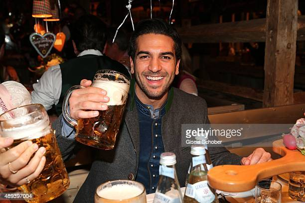 Elyas M'Barek attends the Almauftrieb during the Oktoberfest 2015 at Kaeferschaenke beer tent on September 20 2015 in Munich Germany
