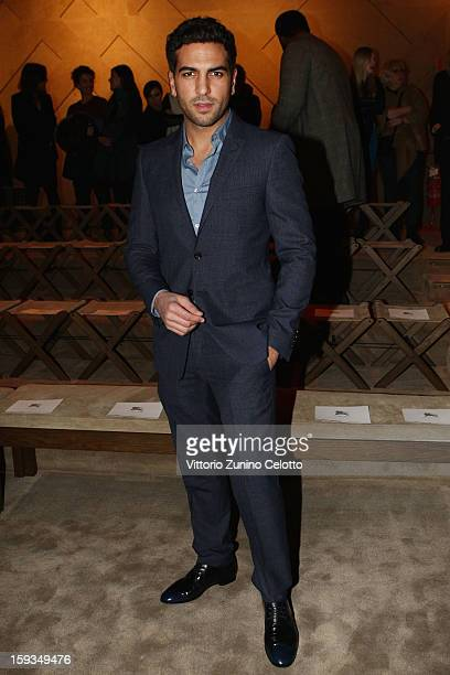 Elyas M'Barek attends the Burberry Prorsum show as part of Milan Fashion Week Menswear Autumn/Winter 2013 on January 12 2013 in Milan Italy