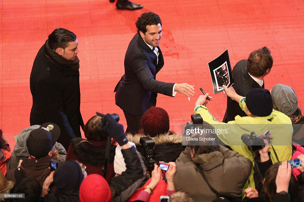 <a gi-track='captionPersonalityLinkClicked' href=/galleries/search?phrase=Elyas+M%27Barek&family=editorial&specificpeople=3967406 ng-click='$event.stopPropagation()'>Elyas M'Barek</a> attends the 'Hail, Caesar!' premiere during the 66th Berlinale International Film Festival Berlin at Berlinale Palace on February 11, 2016 in Berlin, Germany.